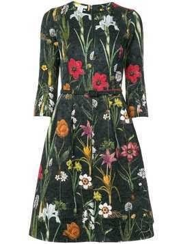 Oscar de la Renta embroidered floral dress - Green