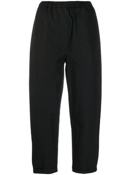 Tela Rivoli cuffed trousers - Black