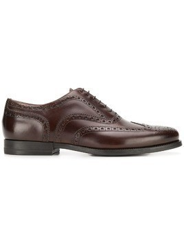 Santoni leather brogues - Brown