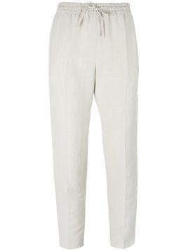 Joseph drawstring cropped trousers - Neutrals