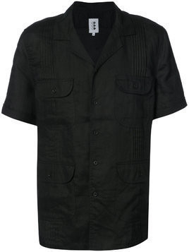 321 flap pocket short sleeve shirt - Black