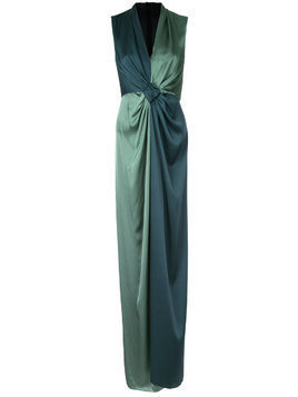 Paule Ka long woven contrast dress - Green