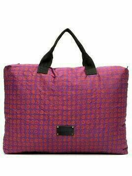 10 CORSO COMO geometric print tote bag - PURPLE
