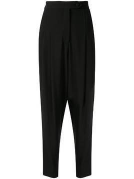 Ingie Paris high-rise oversized trousers - Black