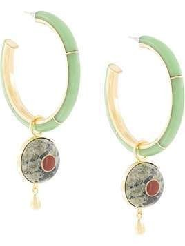 Monica Sordo Brujo embellished hoop earrings - Gold