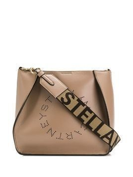 Stella McCartney perforated logo shoulder bag - NEUTRALS