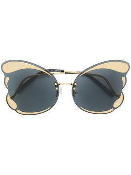Matthew Williamson Special butterfly frame sunglasses - Metallic