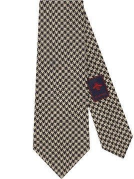 Gucci houndstooth pattern tie - Black