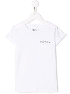 Douuod Kids logo print crew neck T-shirt - White