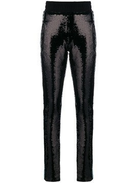 Chiara Ferragni sequinned skinny trousers - Black