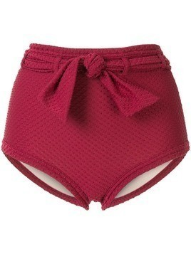 Peony high-waisted bikini bottoms - Red