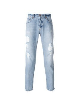 Dondup distressed straight leg jeans - Blue