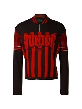 Jean Paul Gaultier Vintage raised logo jumper - Red