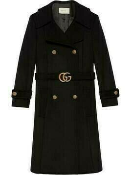 Gucci Double G belted coat - Black