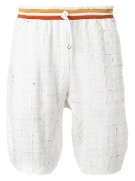 Corelate colour print embroidered shorts - White