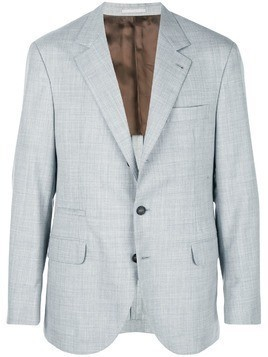 Brunello Cucinelli single breasted blazer - Grey