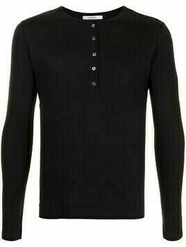 Adam Lippes long-sleeved cotton T-shirt - Black