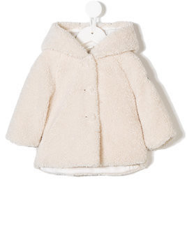 Il Gufo faux shearling coat - White