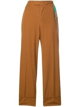 The Gigi cropped wide-leg trousers - Brown
