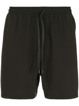 The Upside logo embroidered track shorts - Black