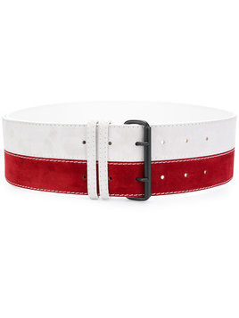 Haider Ackermann bicolour belt - Red