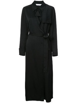 Kimora Lee Simmons belted silk trench coat - Blue