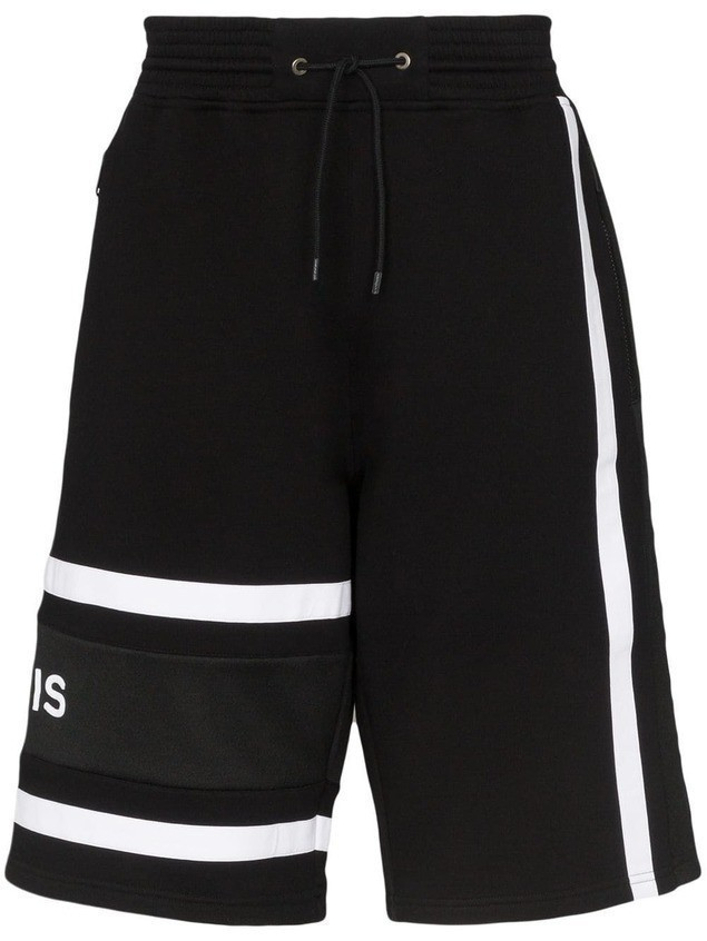 Givenchy logo printed track shorts - Black