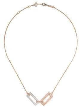 Chopard 18kt rose and 18kt white gold Ice Cube necklace - Fairmined Rose Gold / Fairmined White Gold 150