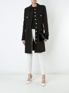 Chanel Vintage CC logo long sleeve coat - Brown