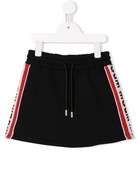 Msgm Kids side stripe mini skirt - Black