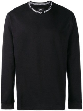 Stussy long-sleeve fitted sweater - Black