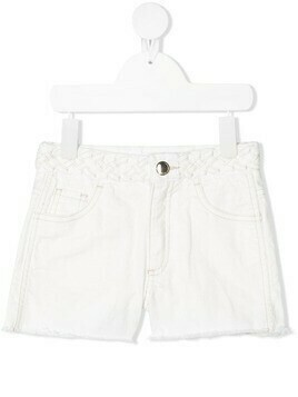 Chloé Kids braided waistband shorts - White