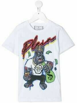 Philipp Plein short-sleeved Dollar print T-shirt - White