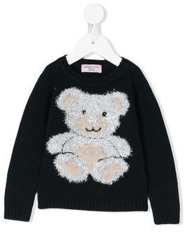 Monnalisa teddy jumper - Blue