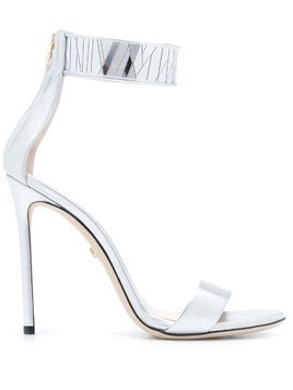 Grey Mer heeled sandals - Silver