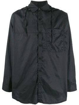 David Catalan hooded shirt jacket - Black