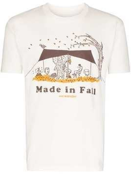 and Wander made in fall print T-shirt - White