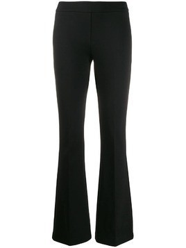 Blanca mid-rise flared trousers - Black