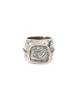 Tobias Wistisen bronze square ring - Metallic