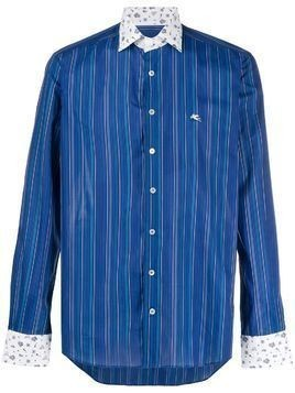 Etro contrast pattern shirt - Blue