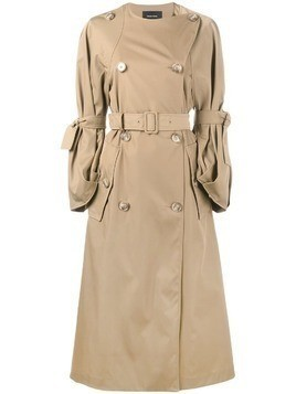 Simone Rocha double breasted trench coat - Nude & Neutrals