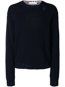 Golden Goose Deluxe Brand - distressed fitted sweater - Herren - Cotton - S - Blue
