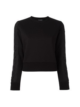 Neil Barrett lattice detail sweatshirt - Black