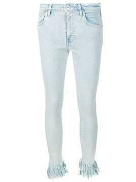 Levi's: Made & Crafted frayed hem skinny jeans - Blue