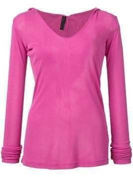 Unravel Project V-neck knit jumper - Pink