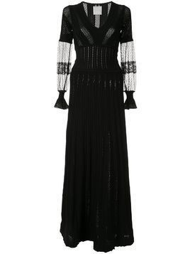 Ingie Paris long-sleeve flared dress - Black