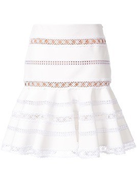 Ingie Paris flared lace mini skirt - White