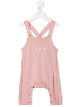 Familiar knitted style dungarees - PINK