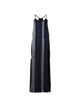 Ilaria Nistri striped long slip dress - Black