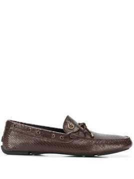 Just Cavalli scale-effect loafers - Brown